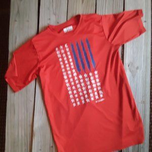 Columbia red flag t shirt